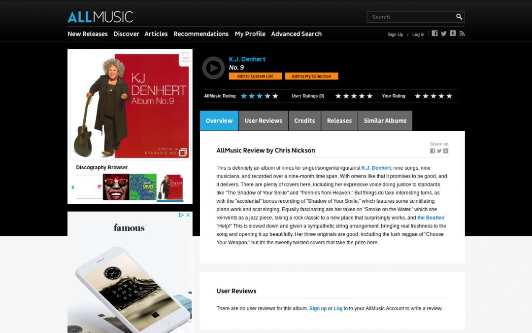 All Music: Album No.9 Review by Chris Nickson