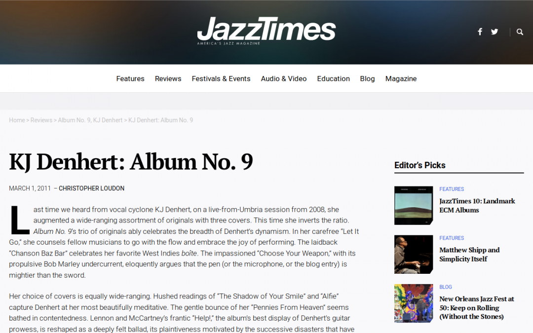 Jazz Reviews: Album No. 9 Review By Christopher Loudon
